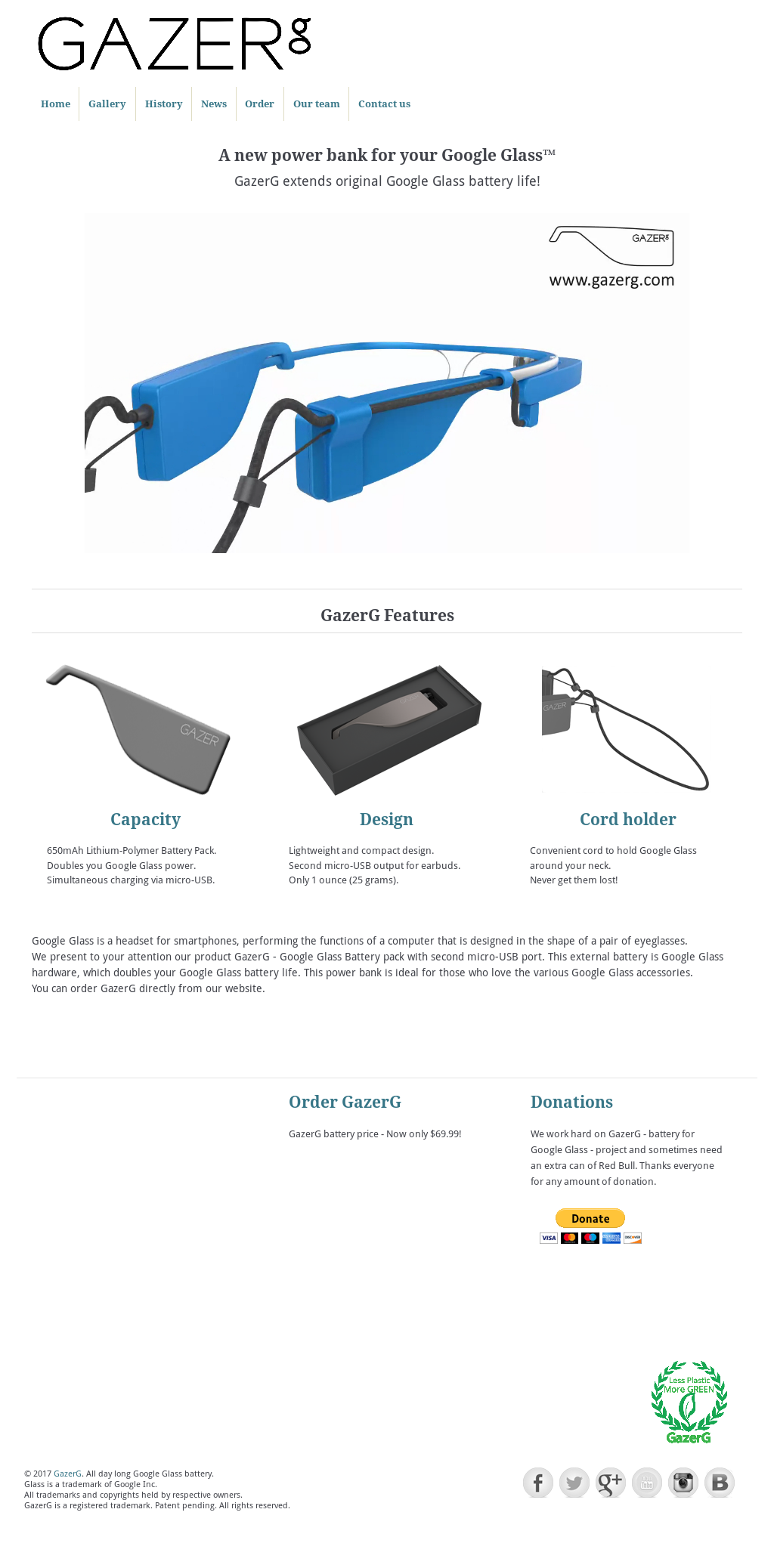 Gazerg  Google Glass Battery With Second Micro-usb