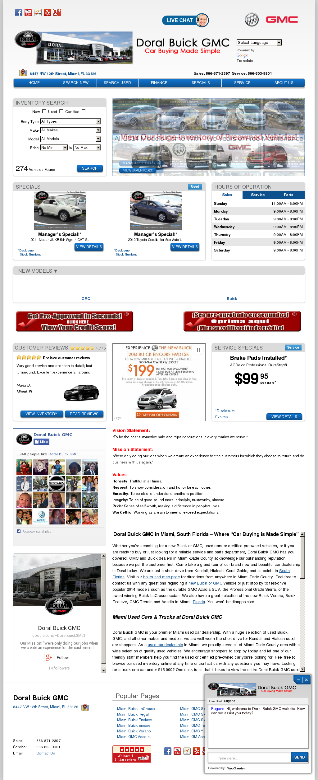 Doral Buick Gmc petitors Revenue and Employees Owler pany