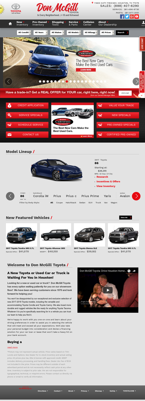 Don McGill Toyota Website History