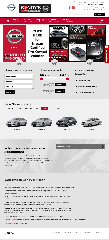 Bondyu0027s Nissan Website History