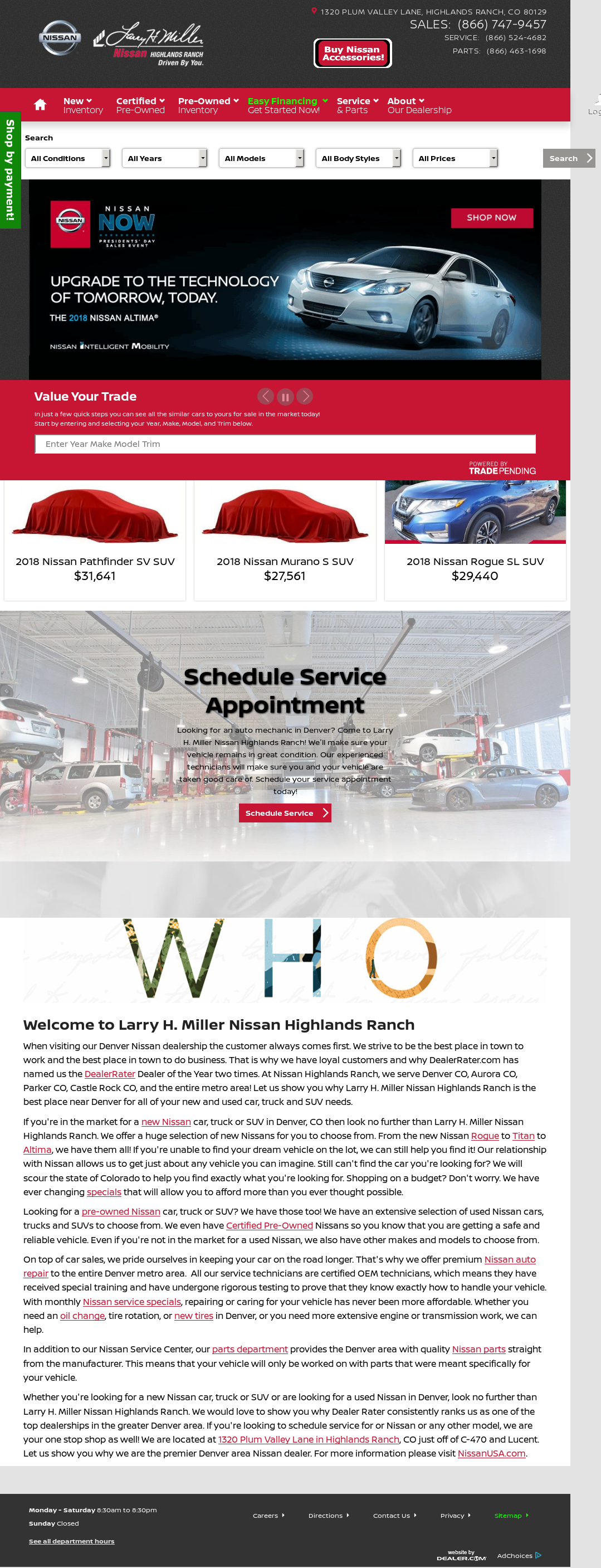 Larry H Miller Nissan Highlands Ranch >> Larry H. Miller Nissan Highlands Ranch Competitors, Revenue and Employees - Owler Company Profile