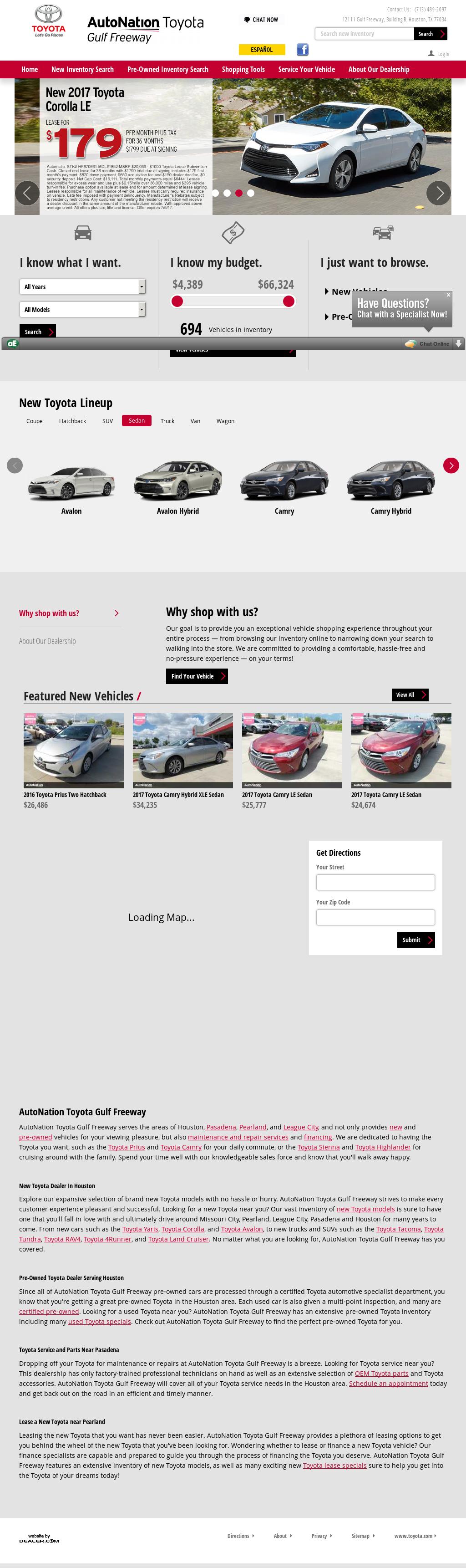 AutoNation Toyota Gulf Freeway petitors Revenue and Employees