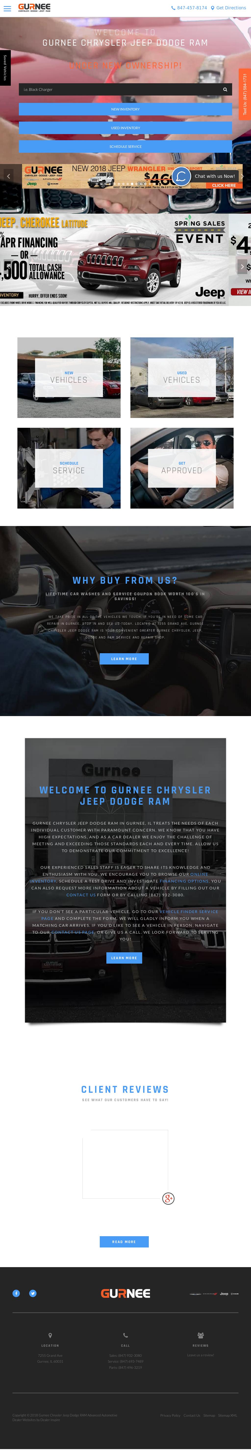 Lovely Gurnee Dodge Chrysler Jeep RAM Website History