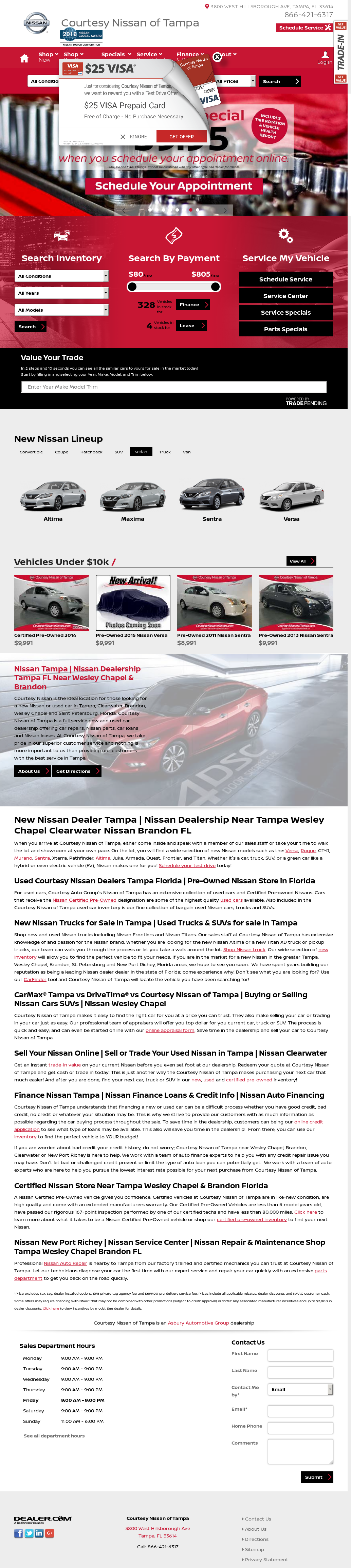 Courtesy Nissan Of Tampa Website History