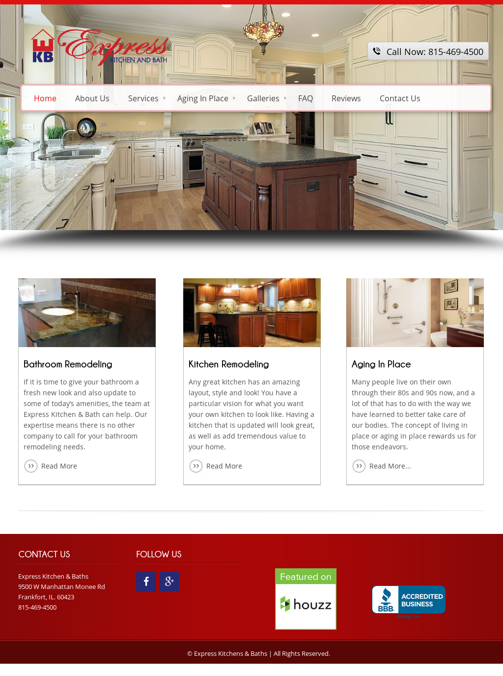 Express Kitchen And Bath Website History
