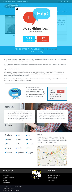 Air Right Energy Design S Website Screenshot On Dec 2017