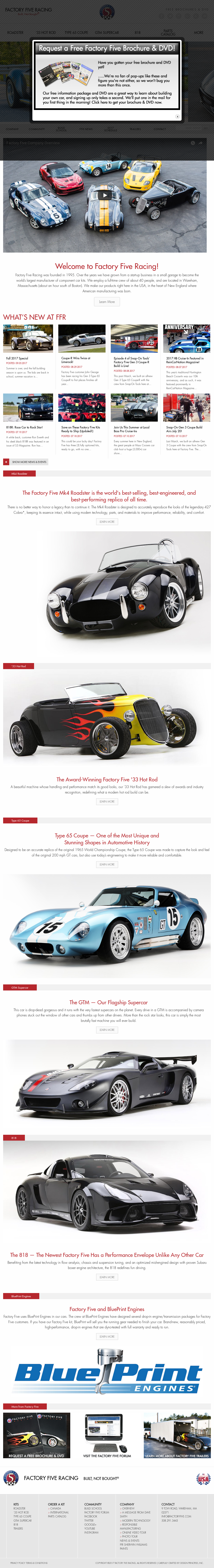 Factoryfive competitors revenue and employees owler company profile factoryfive website history malvernweather Gallery