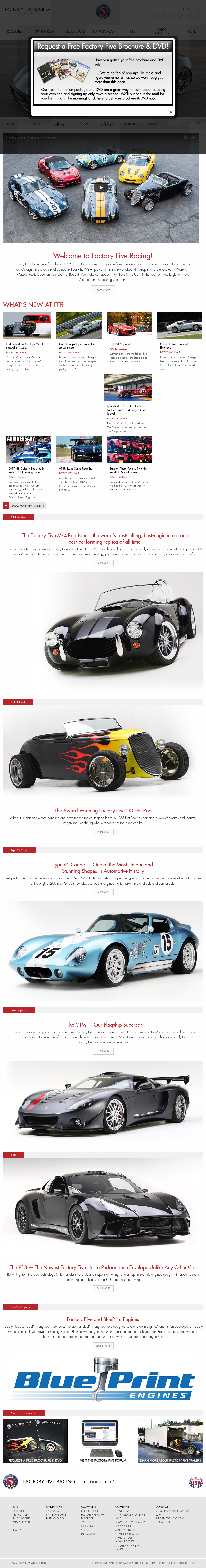 Factoryfive competitors revenue and employees owler company profile factoryfive website history malvernweather Images