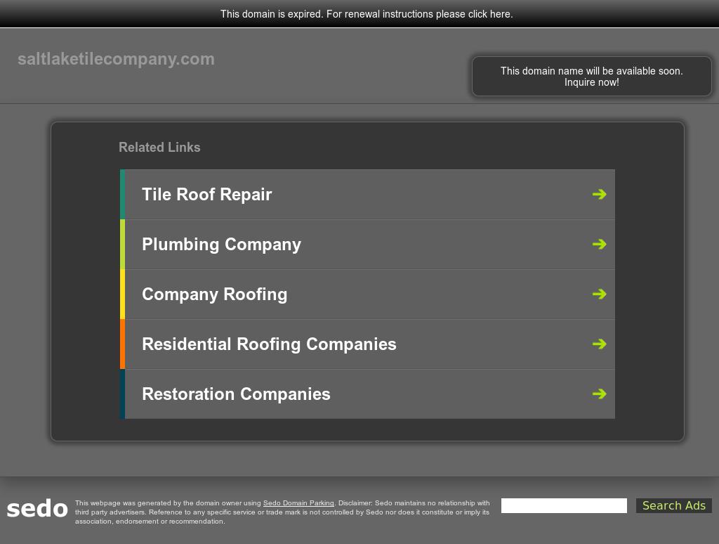 Salt Lake Tile Company Website History