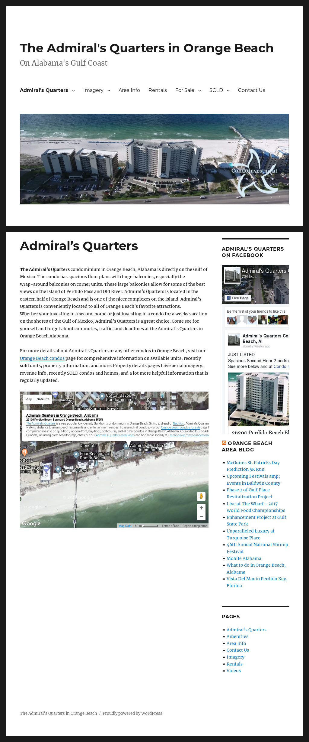 Admiral S Quarters Condo Orange Beach Al Website Screenshot On