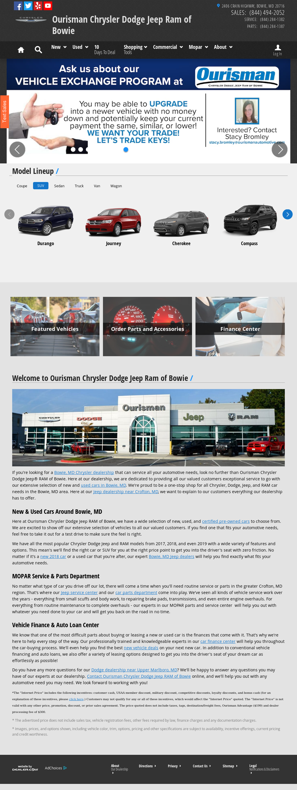 Ourisman Chrysler Dodge Jeep Ram Of Bowie Website History