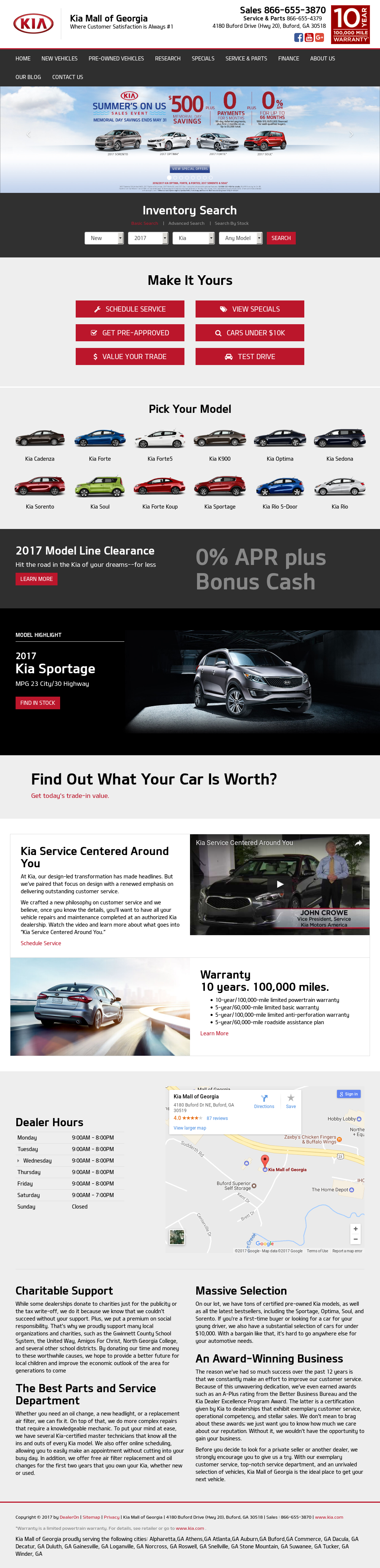 Kia Mall Of Georgia Website History