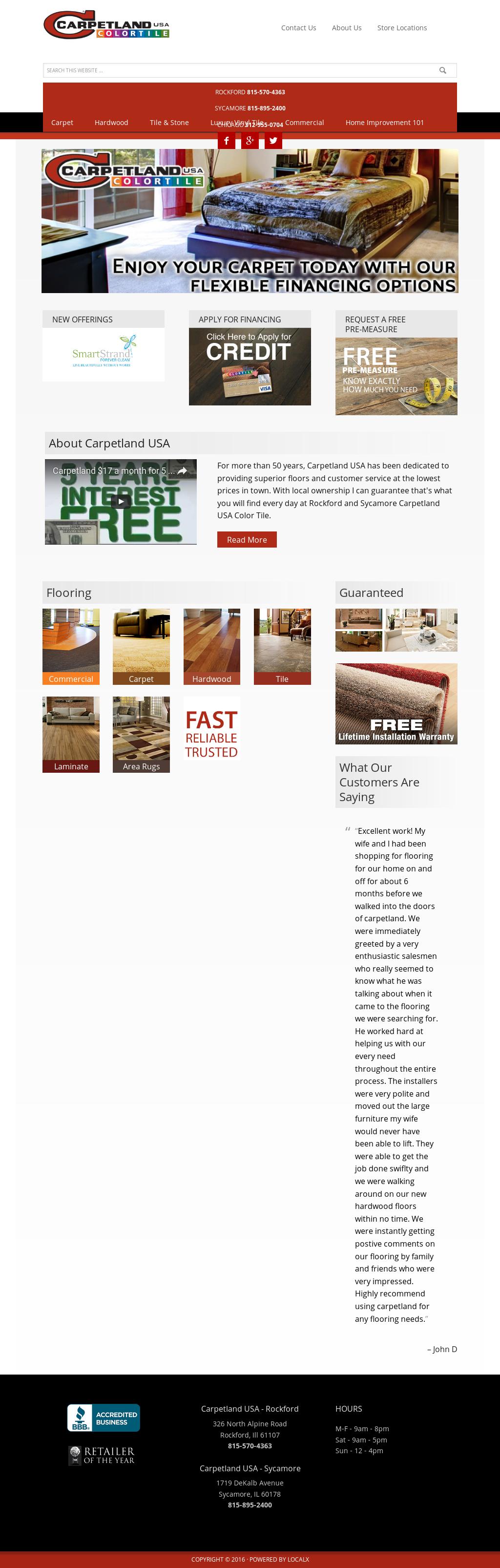 Rockford Sycamore Carpetland Usa Compeors Revenue And Employees Owler Company Profile