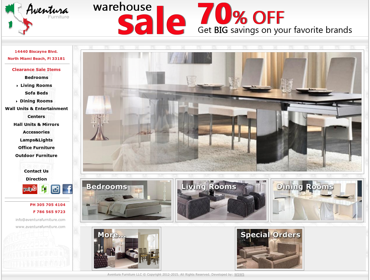 Aventura Furniture Website History