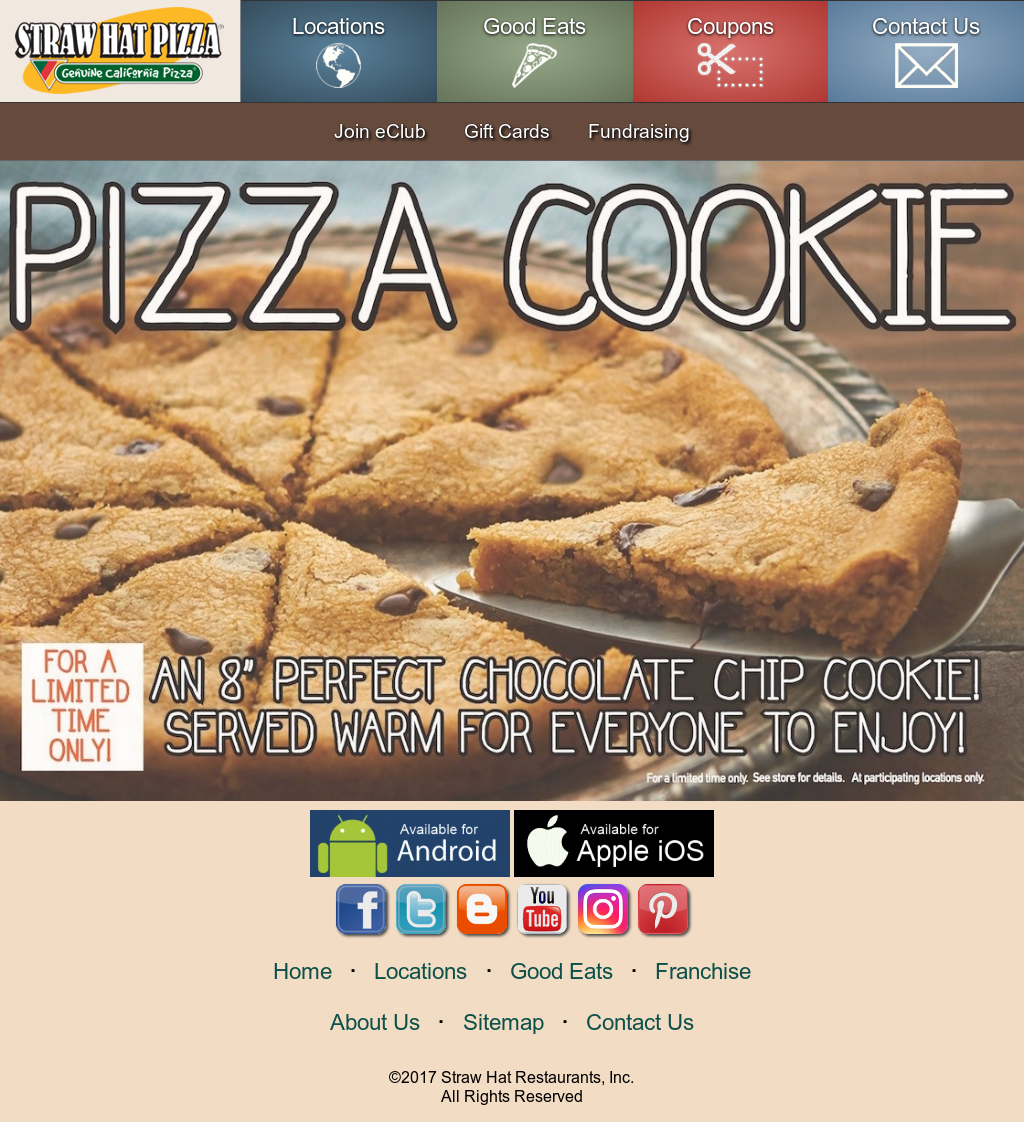 Straw Hat Pizza Coupons Www Topsimages Com