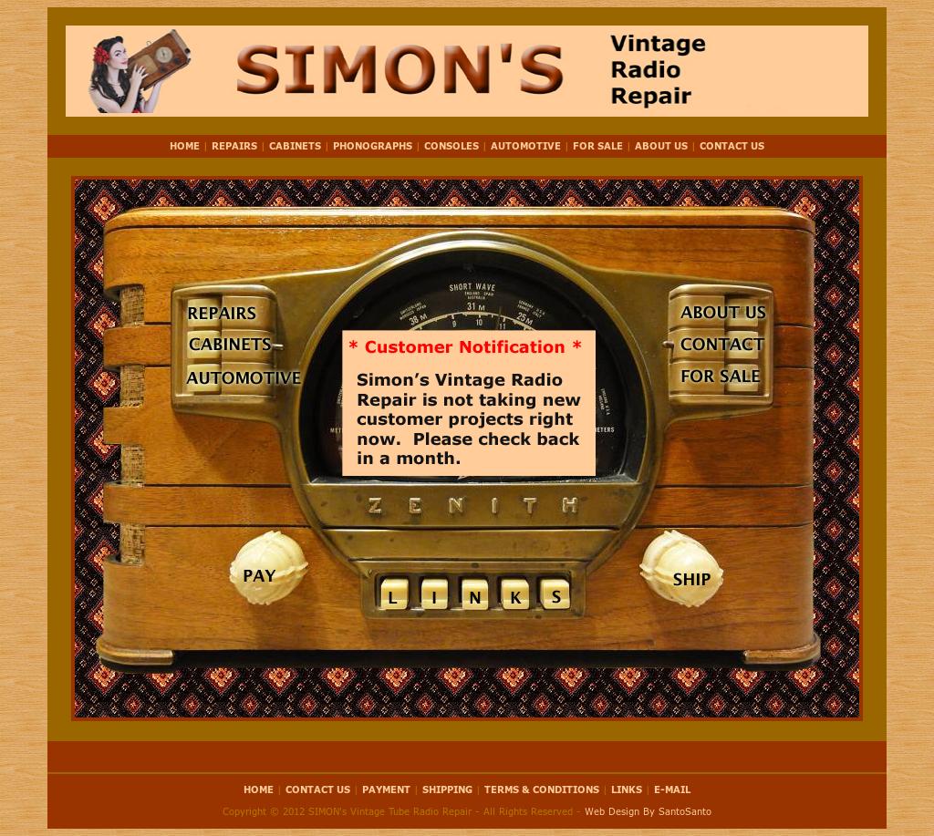 Simon's Vintage Tube Radio Repair Competitors, Revenue and