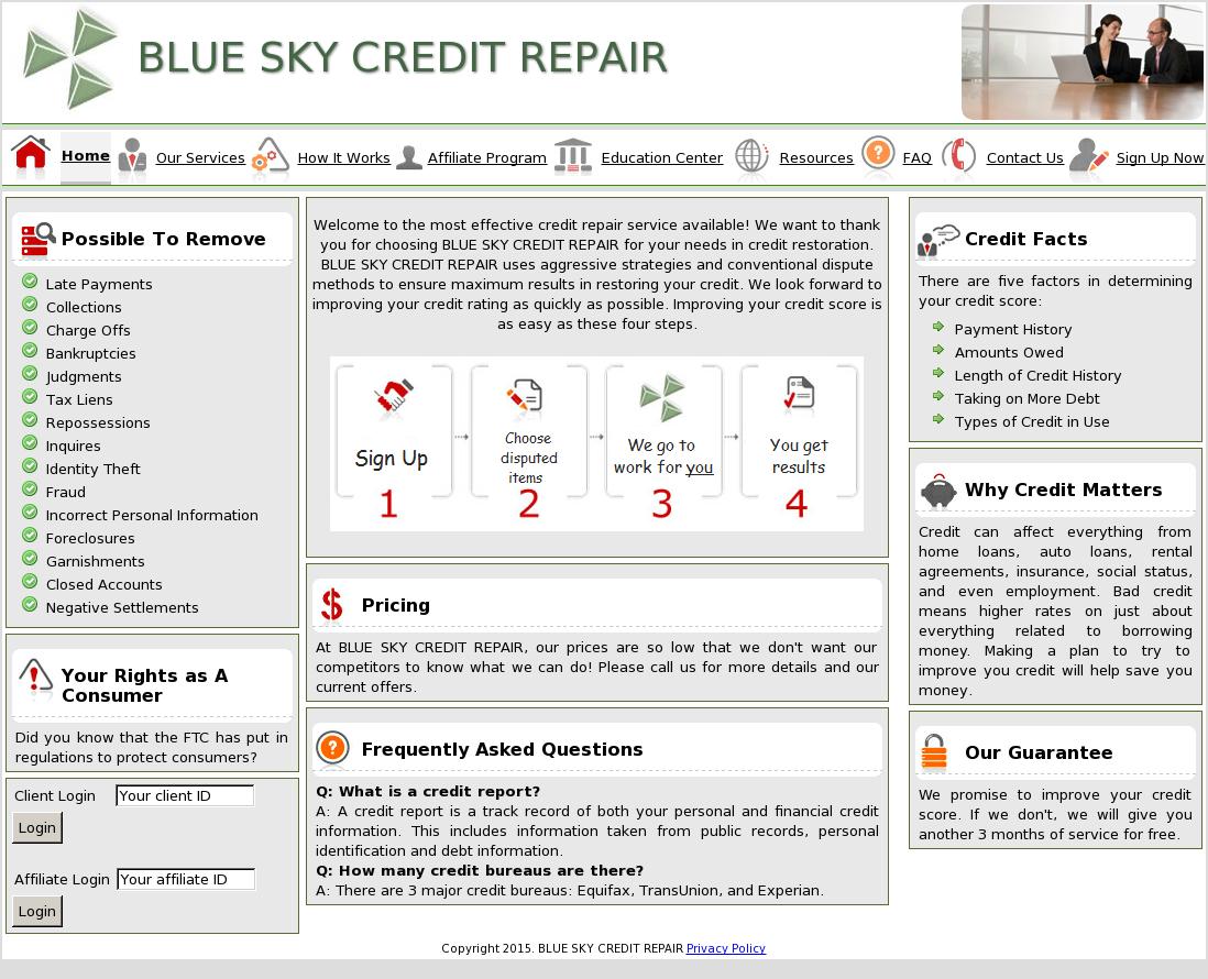 Credit repair contact number