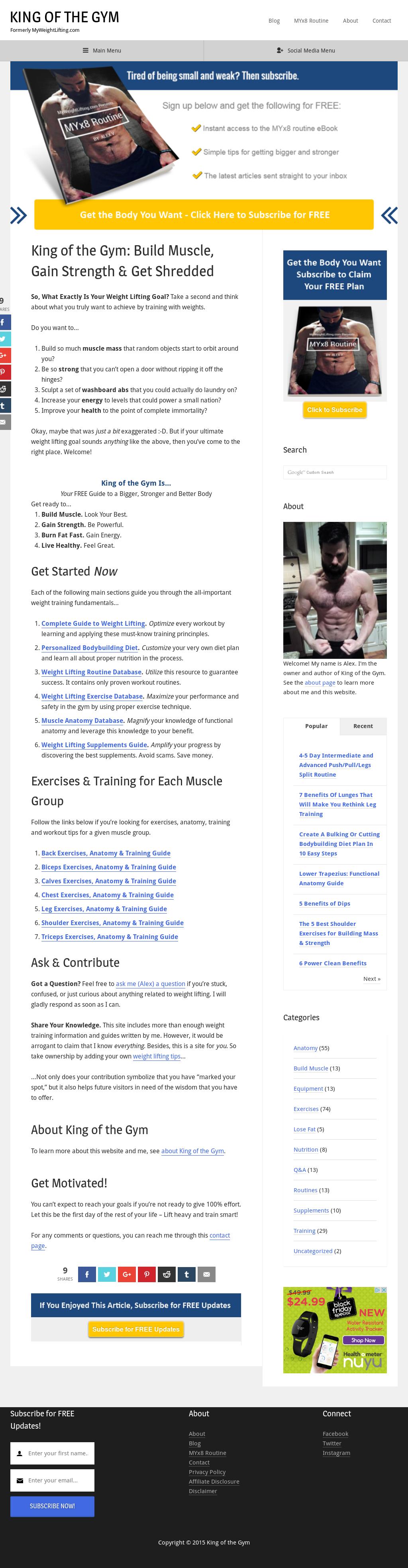 Kingofthegym com - Currently Myweightlifting Competitors