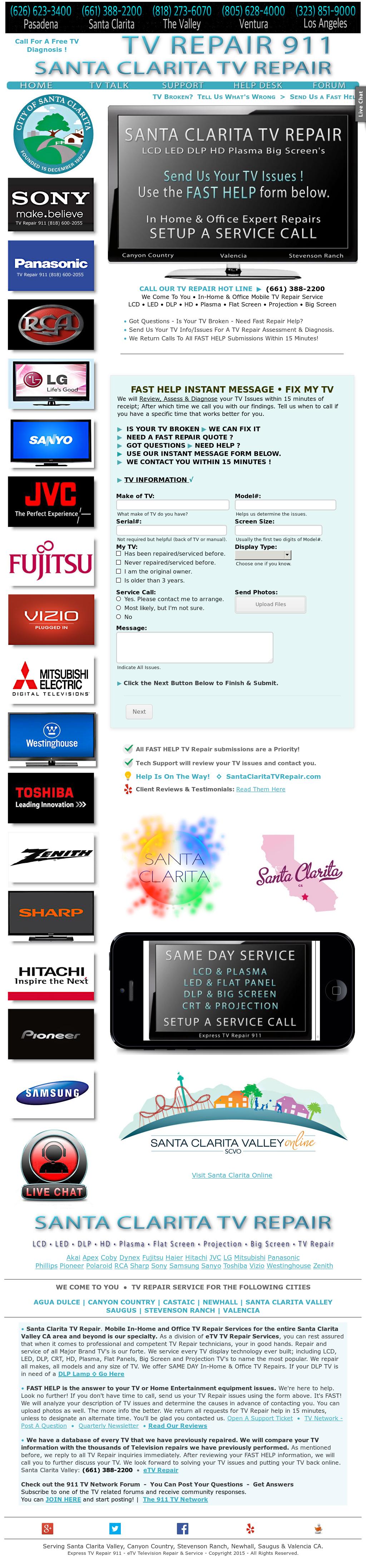 Santaclaritatvrepair Competitors, Revenue and Employees