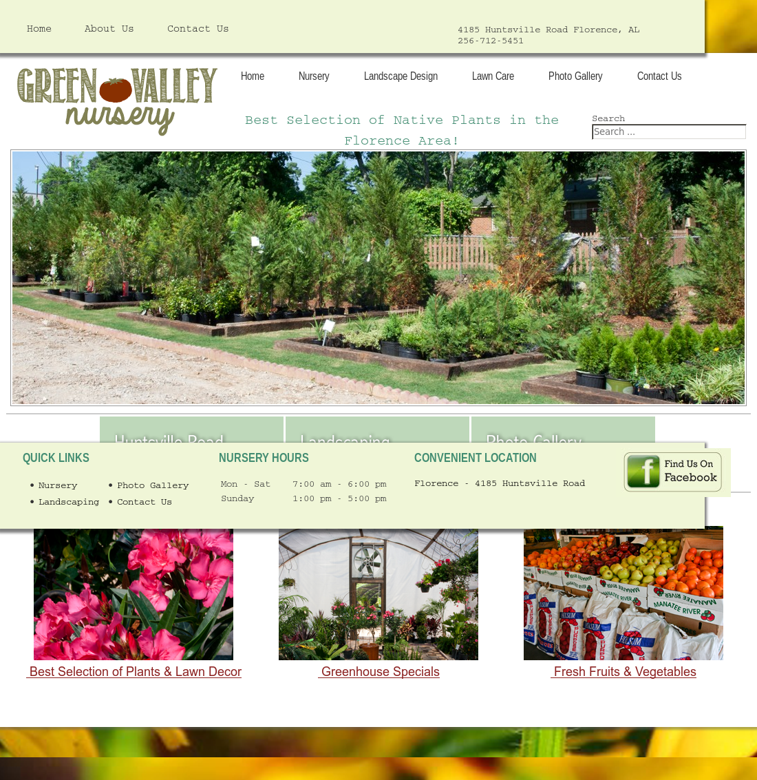 Green Valley Nursery Landscaping And Produce Website History