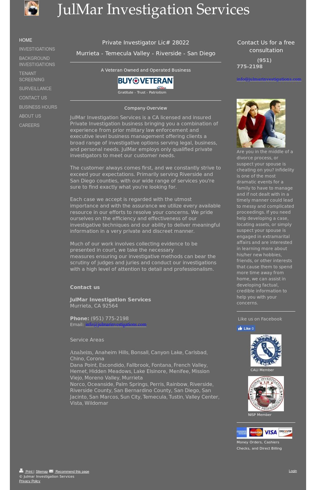 Julmar Investigation Services Competitors, Revenue and