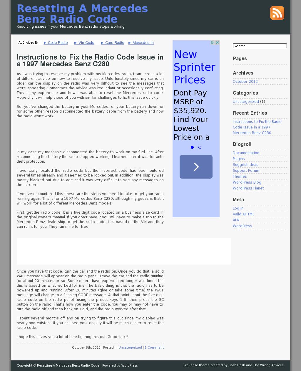 Resetting A Mercedes Benz Radio Code Competitors, Revenue
