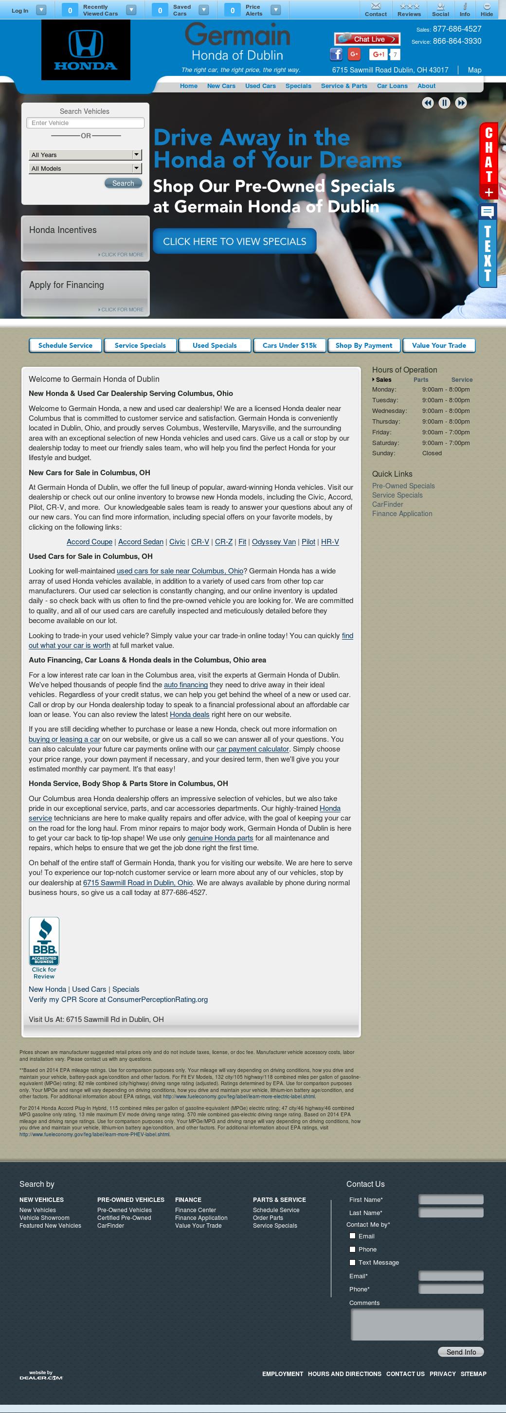 Germain Honda Competitors Revenue And Employees Company