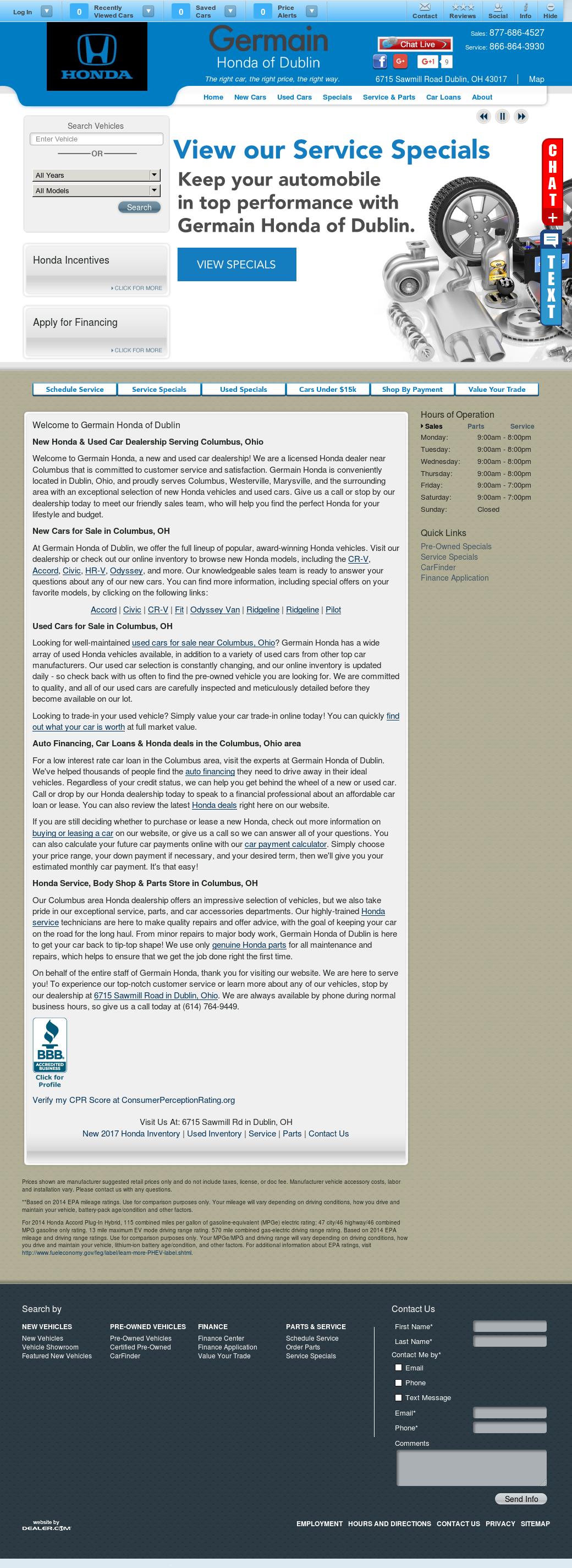 Germain Honda Competitors Revenue And Employees Owler