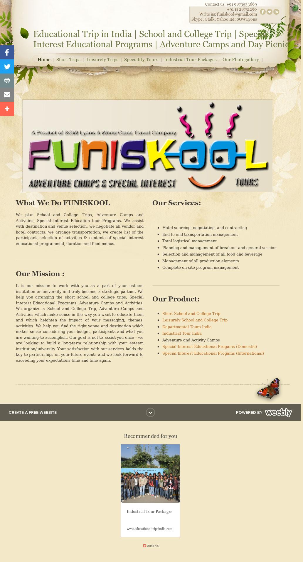 Funiskool com Educational Tours Study Tours Operator India