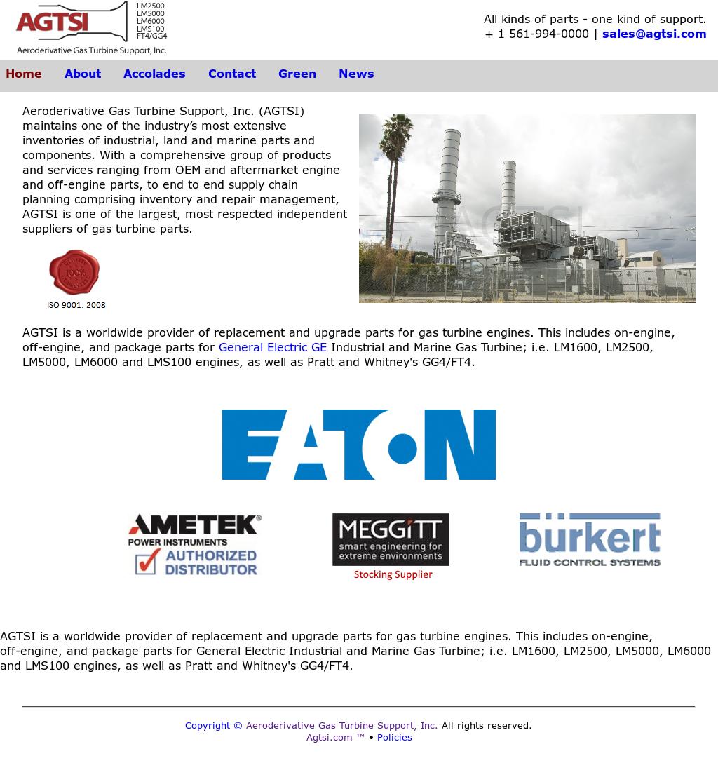 Aeroderivative Gas Turbine Support Competitors, Revenue and