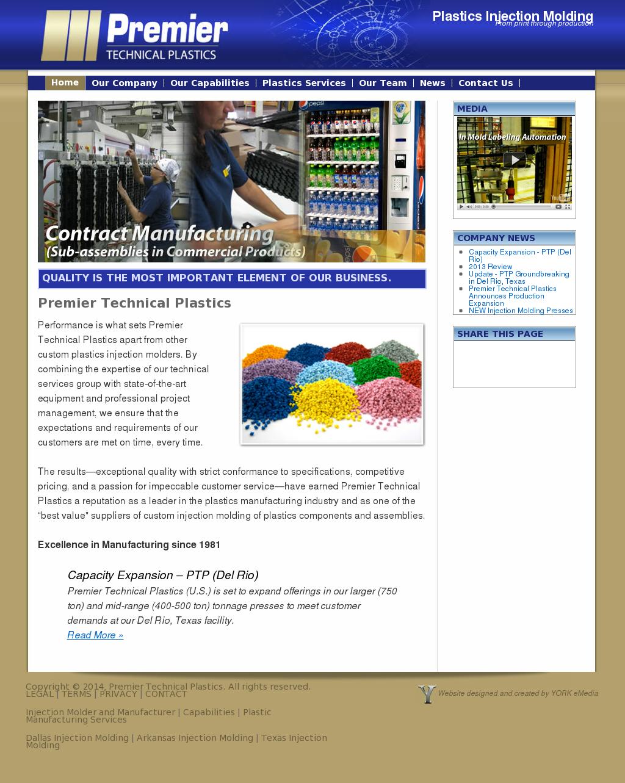 Premier Technical Plastics Competitors, Revenue and Employees