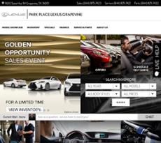 Park Place Lexus Grapevine Website History