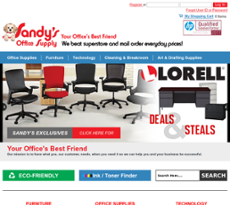 Sandyu0027s Office Supply Website History