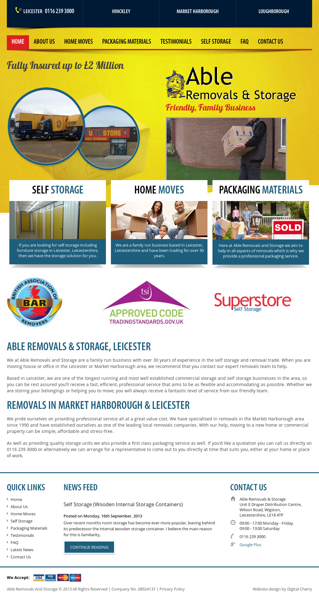 Able Removals & Storage Competitors, Revenue and Employees