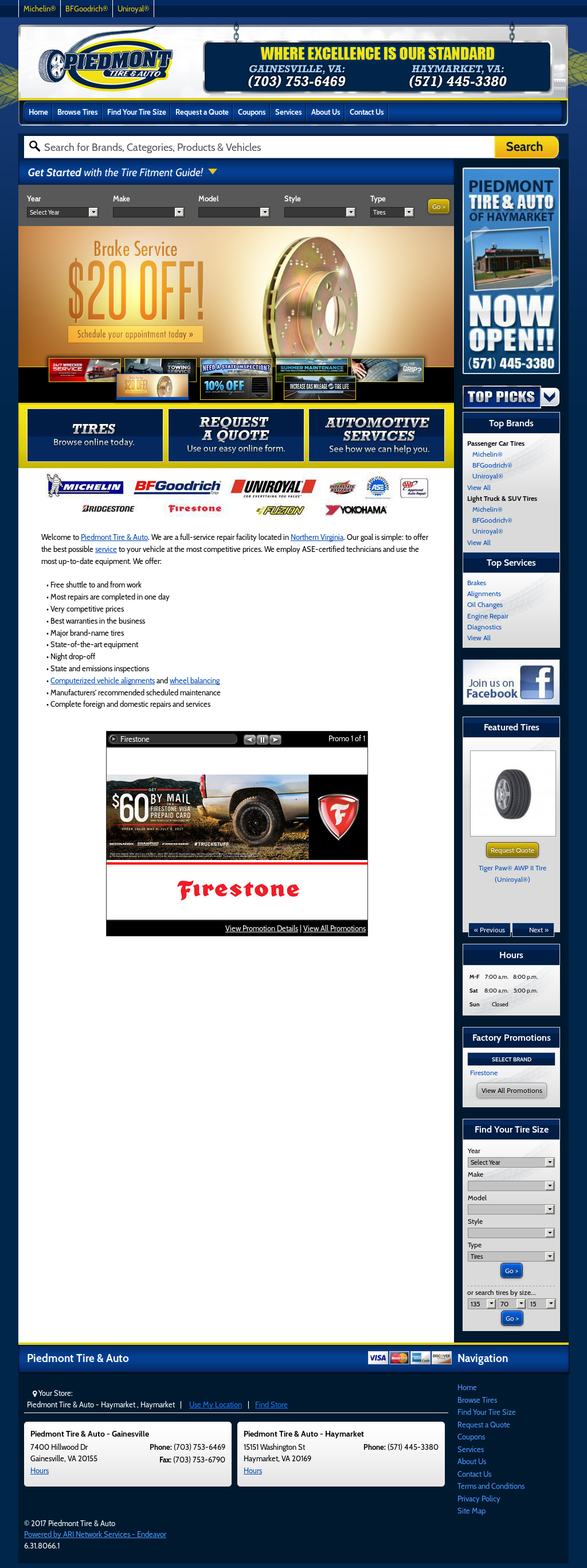 Piedmont Tire And Auto Competitors Revenue And Employees Owler