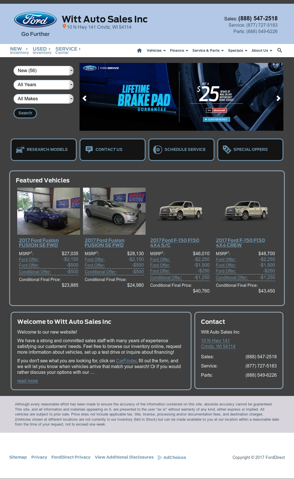 witt auto sales website history