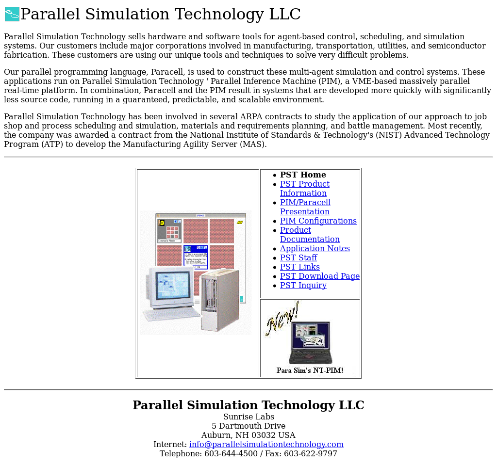 Parallel Simulation Technology Competitors, Revenue and