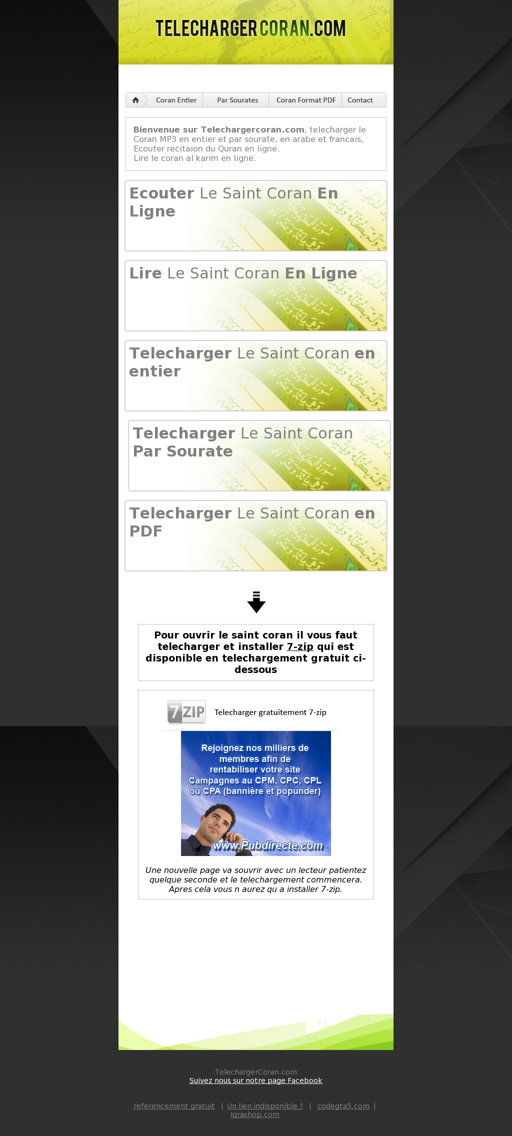 télécharger le coran en arabe mp3 et pdf