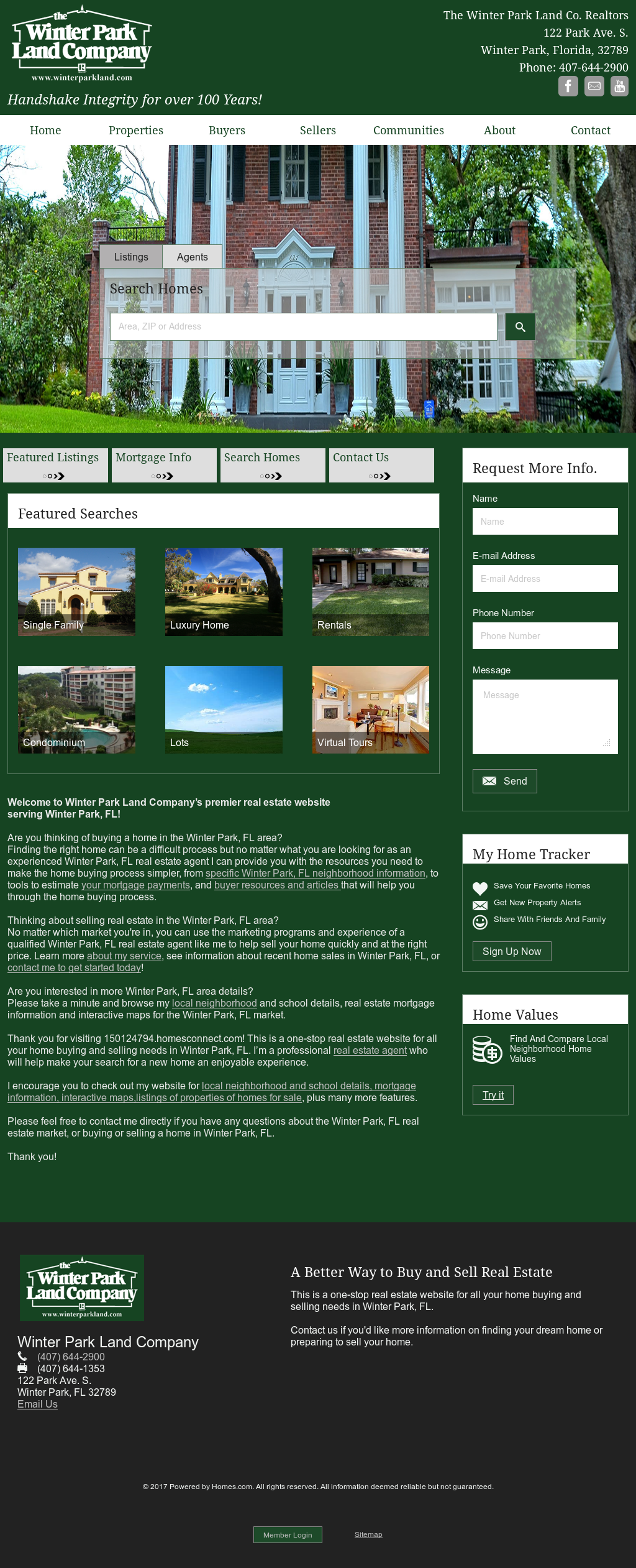 Winter Park Land Company S Website Screenshot On Feb 2017