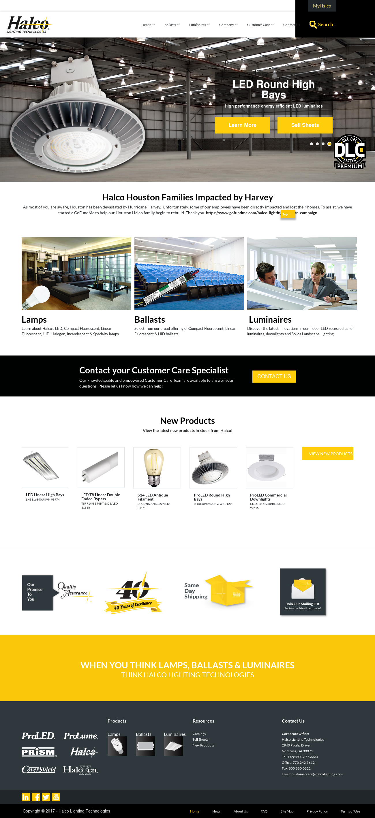 Superior Halco Lighting Technologies Website History