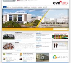 GVK BIO website history