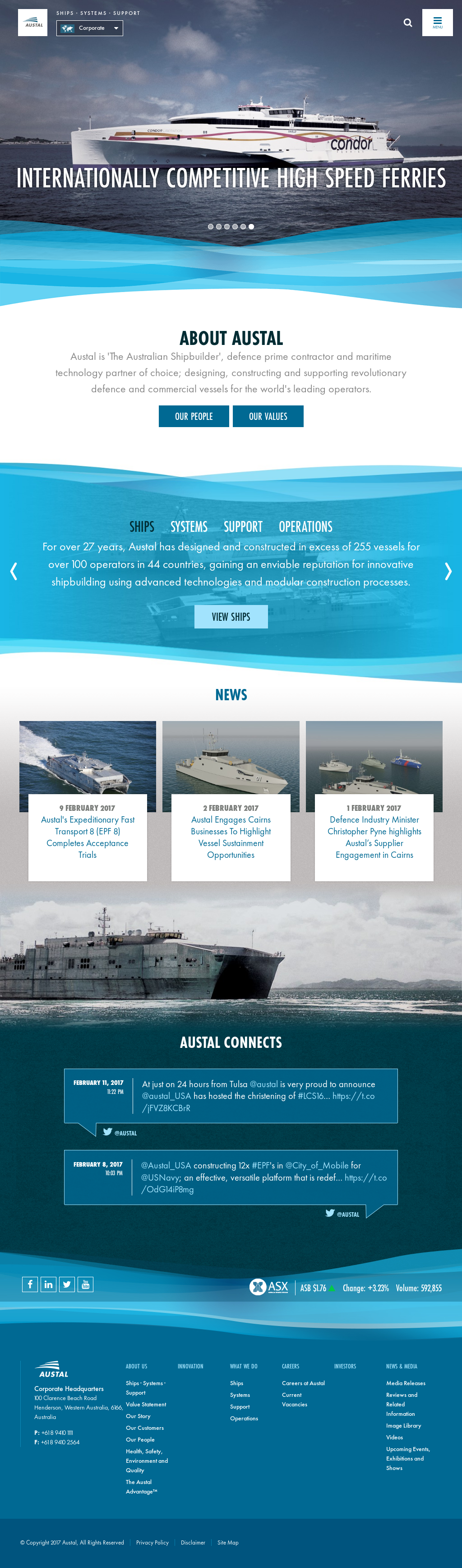 Austal Competitors, Revenue and Employees - Owler Company Profile