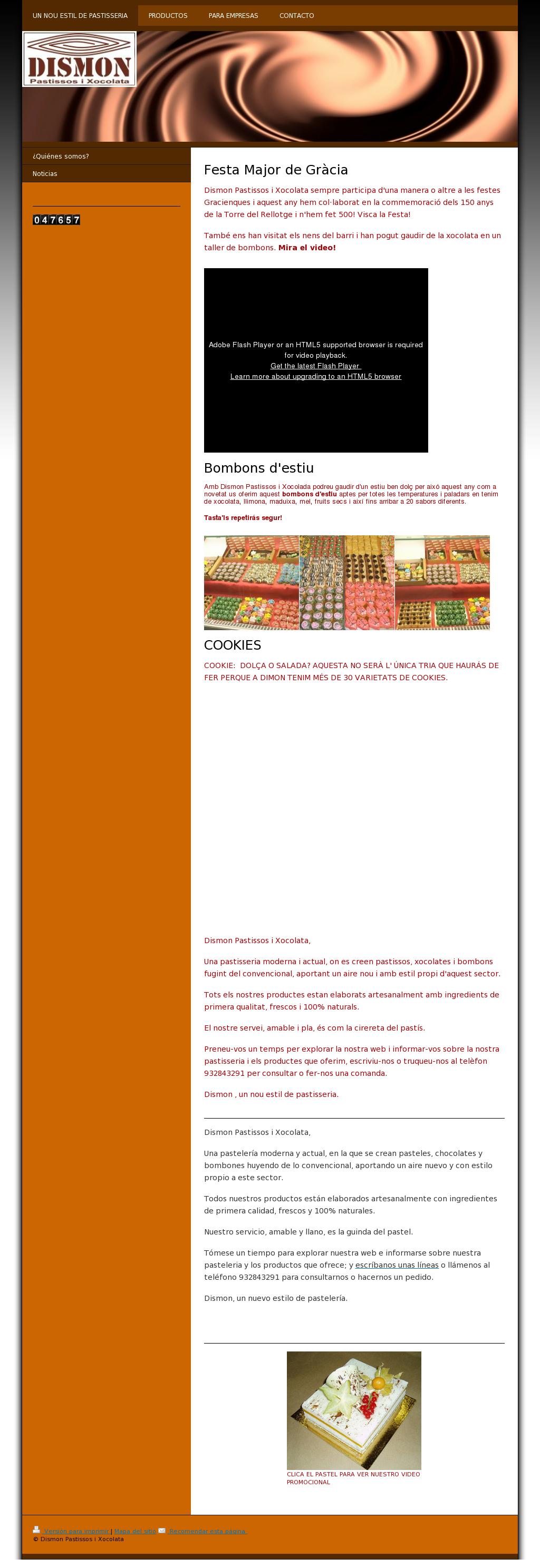 Dismon Pastissos I Xocolata Competitors Revenue And