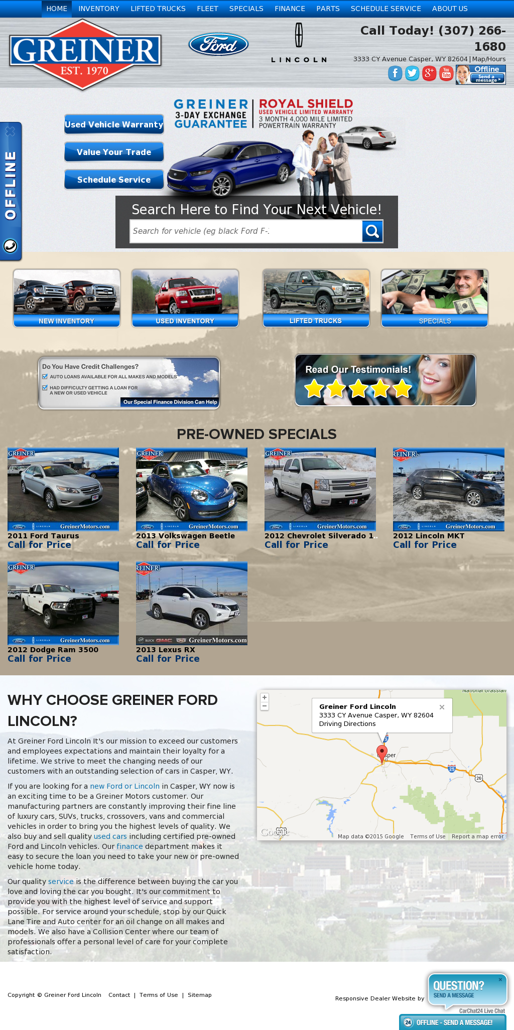 Greiner Ford Casper Wy >> Greiner Ford Lincoln Competitors Revenue And Employees
