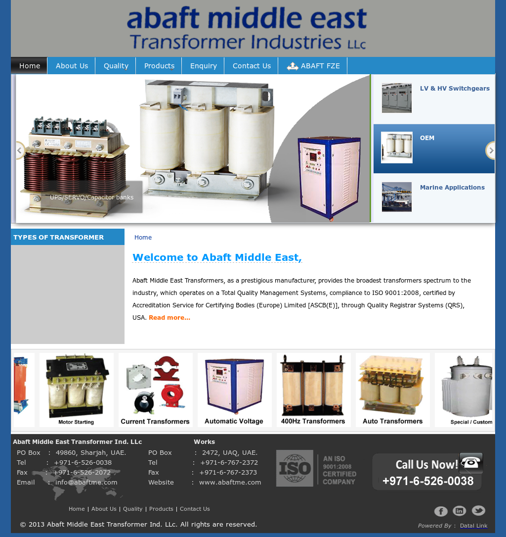 Abaft Middle East Transformer Ind Competitors, Revenue and