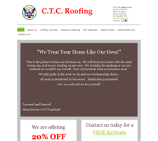 C.t.c. Roofing Website History