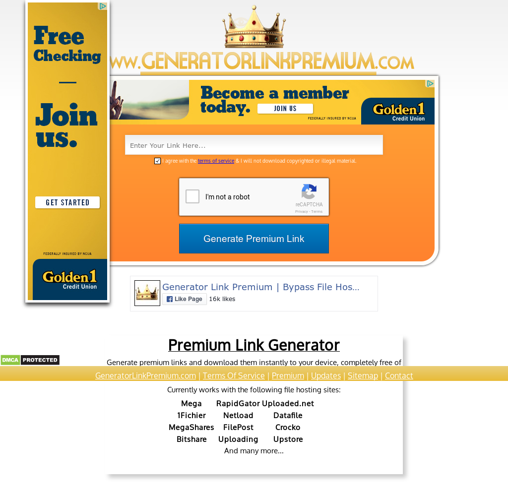 Generator Link Premium   Bypass File Hosting Companies