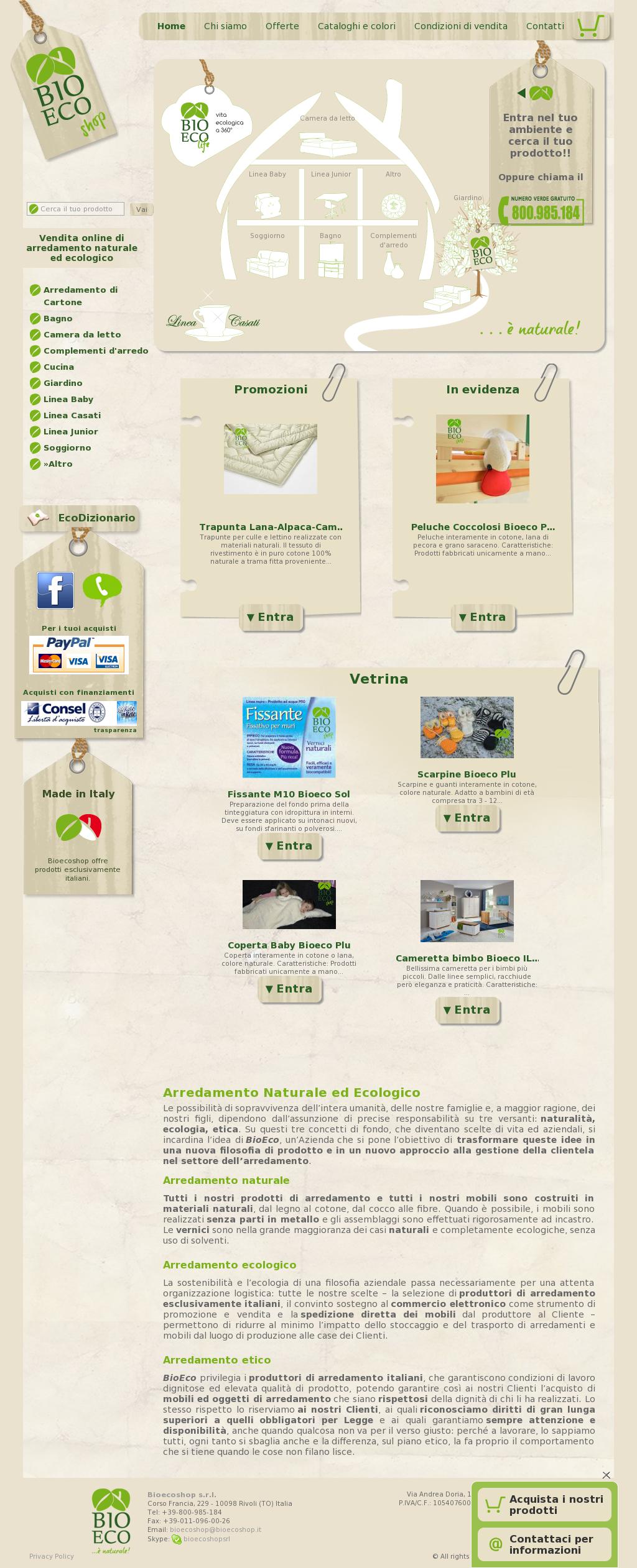 Produttori Complementi D Arredo.Bioecoshop Arredamento Ecologico E Naturale Competitors Revenue
