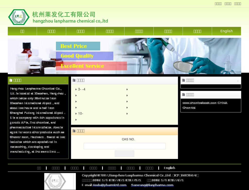 Hangzhou Lanpharma Chemical Competitors, Revenue and