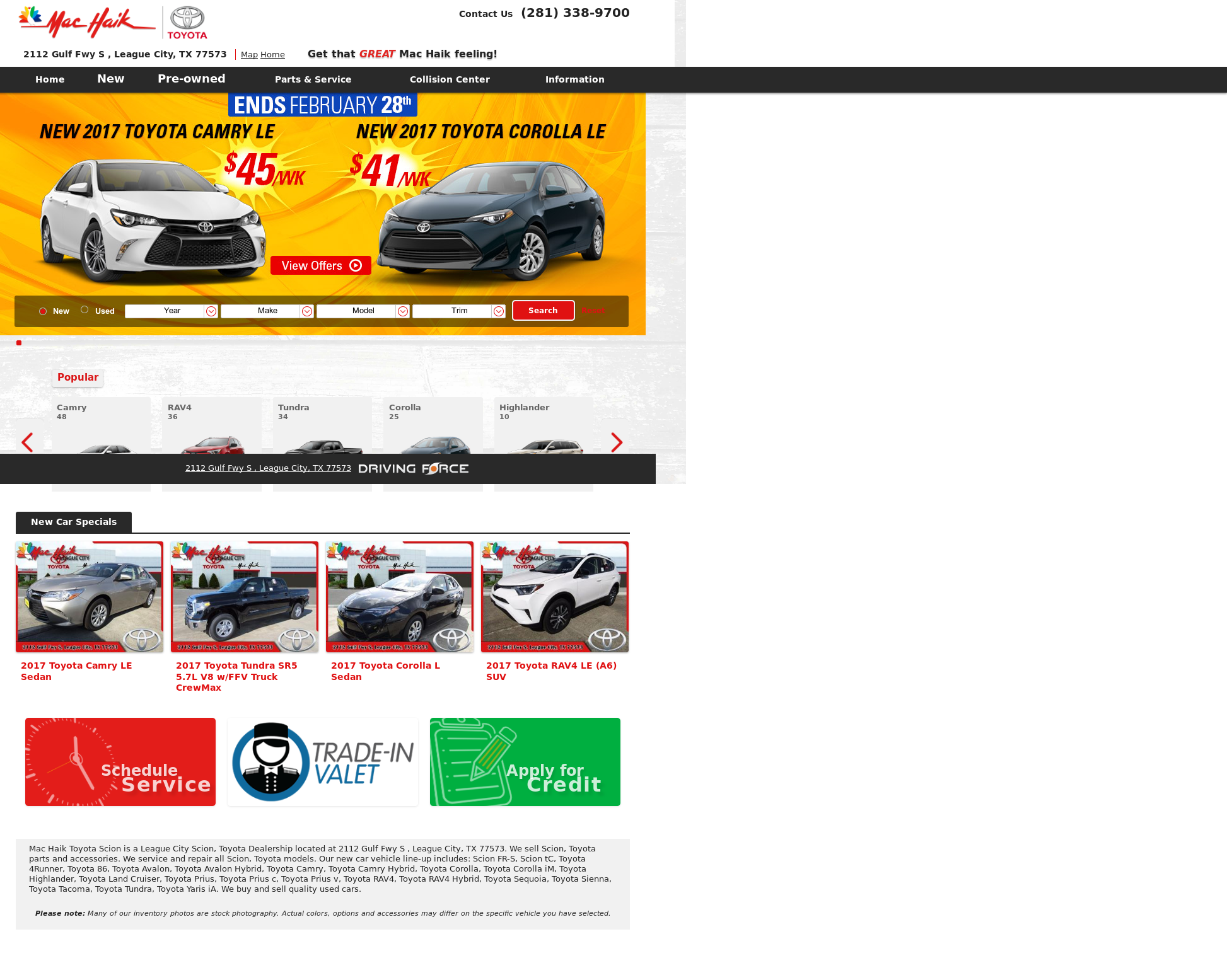 Elegant Star Toyota Website History